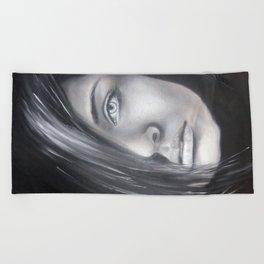 Tajemná žena Beach Towel