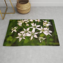 Small White Flowers Rug