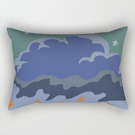 Stars and Fish Rectangular Pillow