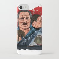 jaws iPhone & iPod Cases featuring JAWS by David Amblard