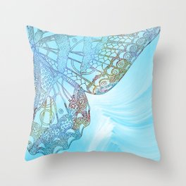 Colorful Abstract Butterfly Design Throw Pillow
