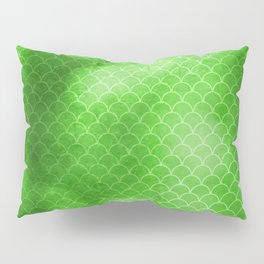 Green Flash small scallops pattern with texture Pillow Sham