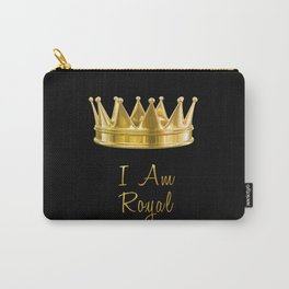 I am Royal in Black Carry-All Pouch