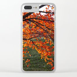 Red Maple Clear iPhone Case