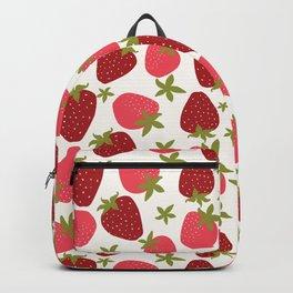 Modern Strawberry Summer Fruit Backpack