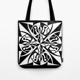 Think Mandala - Black White Tote Bag