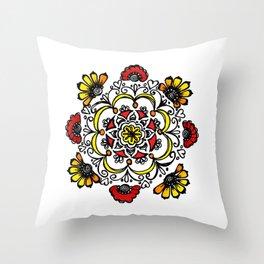 Doodle Mandala Throw Pillow