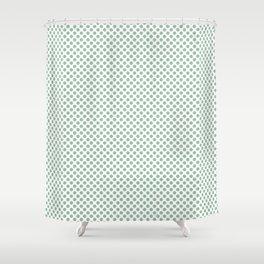 Grayed Jade Polka Dots Shower Curtain