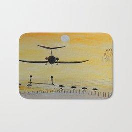 Yellow last flight Bath Mat