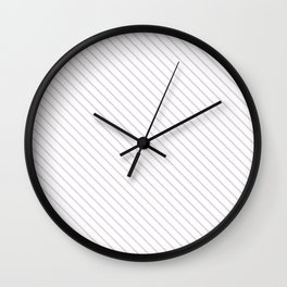 Orchid Ice Stripe Wall Clock