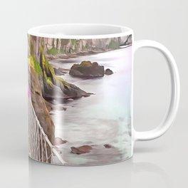 Carrick-a-rede rope bridge, Ireland. (Painting) Coffee Mug