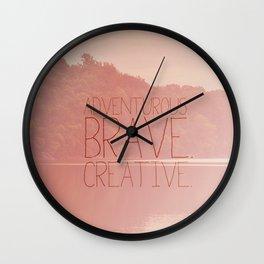 the secret life of walter mitty.. adventurous brave creative Wall Clock