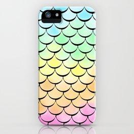Ombre Rainbow mermaid iPhone Case
