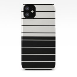 Two Tone Stripes - Black and White iPhone Case