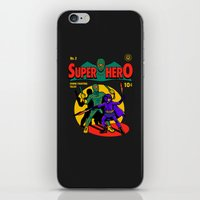 superhero iPhone & iPod Skins featuring Superhero Comic by harebrained