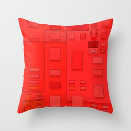 red geometric fantasy Throw Pillow