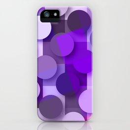 squares & dots violet iPhone Case
