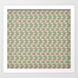 Brown Pink Art Print