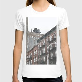 New York City corners, fire escapes, ladders fine art , nyc, America, photo T-shirt