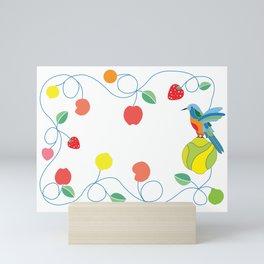 Kitchen hummingbird Mini Art Print