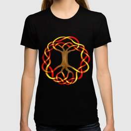 World Tree (Yggdrasil) Autumn Knot T-shirt