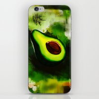 avocado iPhone & iPod Skins featuring Avocado by Marven RELOADED