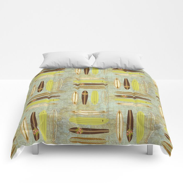 Surf Pattern 4 Comforters