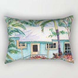 Tropical Vacation Cottage Rectangular Pillow