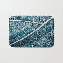 Frozen Winter Leaf Bath Mat
