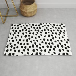 Hand drawn drops and dots on white - Mix & Match with Simplicty of life Rug
