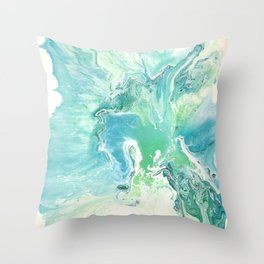 Breathe Blue Abstract Print Throw Pillow