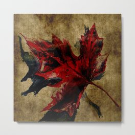 Canadian Maple Leaf Fall Edit  Metal Print