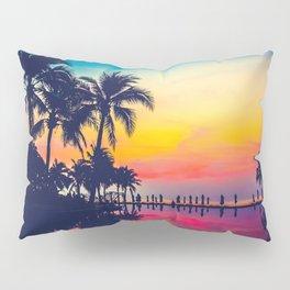 Miami sunset Pillow Sham