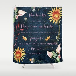 Books We Love Shower Curtain