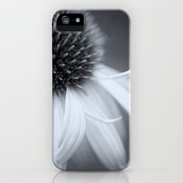 Black and White Coneflower iPhone Case