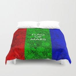 THE FLAG OF MARS Duvet Cover