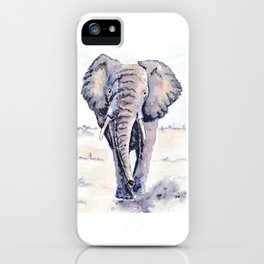 Elephant on a mission iPhone Case