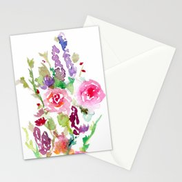 Bright Pink and Purple Wildflowers Stationery Cards