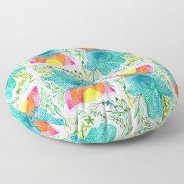 Hamsa Rainbow in Harmony Floor Pillow