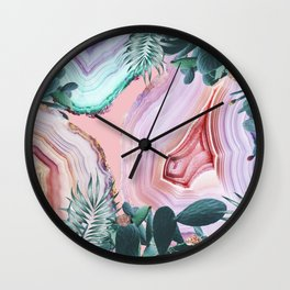 Mineral Agates & Garden #Glam collection Wall Clock