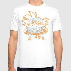 Cheeseburger Goku White MEDIUM Mens Fitted Tee