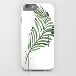 Palm Leaf Illustration iPhone Case