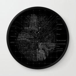 Cerebral in BW Wall Clock