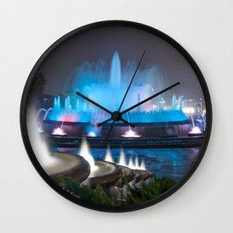 Montjuic Magic Fountain - Barcelona Wall Clock