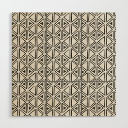Block Print Diamond Wood Wall Art