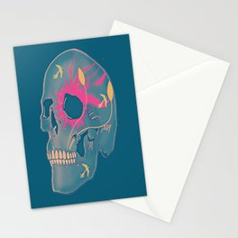 Faded Natured Skulled Stationery Cards