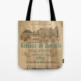 Barrel Wine Label 2 Tote Bag