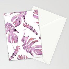 Monstera Pattern Pink #society6 #buyart Stationery Cards