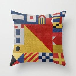 Signaling O Flag Throw Pillow