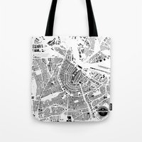amsterdam Tote Bags featuring AMSTERDAM by Maps Factory